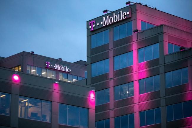 T-Mobiles logga på husfasad