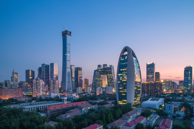 Vy över den kinesiska huvudstaden Peking