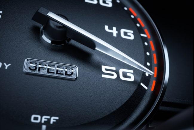 hastighetsmätare drar mot 5g